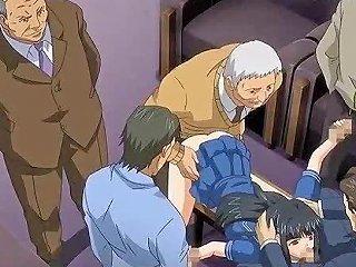 Hentai Gets Gangbanged And Gets Jizzload