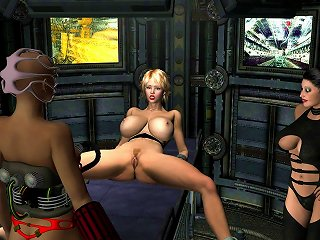 Pretty Busty  Is Showing Off Her Ass In 3d Porn