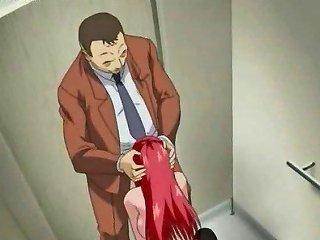 Anime Redhead Drinking Stinky Jizz