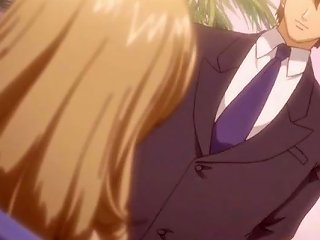 Blonde Anime Mistress Pumped From Behind