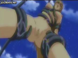 Busty Anime Girl Gets  By Tentacles And Fucked By Them