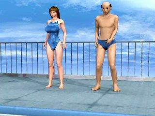 3d Hentai Whore Take Dick At Poolside