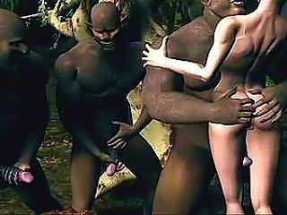 Virtual Hottie Getting Dicked By Big Black Guys