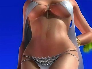 Dead Or Alive 5 Tina Hot Blonde In Sexy See Through Dress Exposes Her Ass