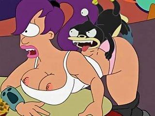 Futurama Porn Amy Wong And Turanga Leela Fucked In A Club Parodie